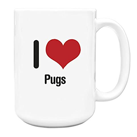I love Pugs Big 15oz Mug 1289