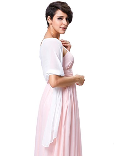 Kate Kasin Elegante Stola Multifunzione per Cerimonia Matrimonio Damigella Raso Scialle Stola KK229-1