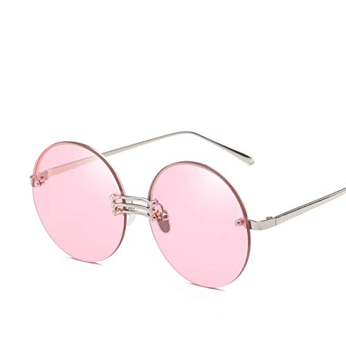 Wenkang Frameless Round Lens Sunglasses Designer Ocean Color Gradient Female Sun Glasses Ladies Club Eyewear Uv400 Glasses,6
