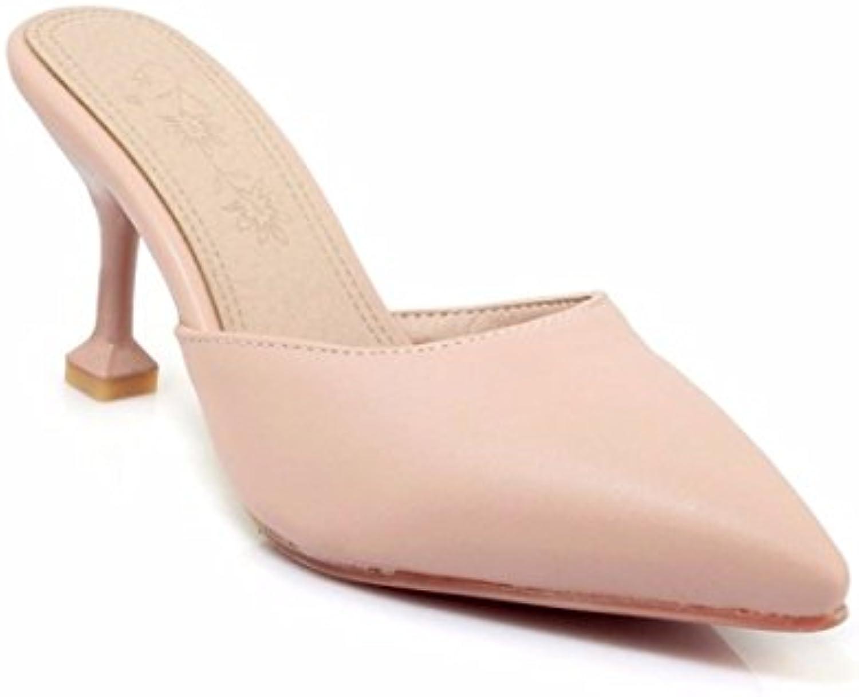 Sandalias de Las Mujeres Zapatillas de   Gran tamaño Zapatillas de Estilo   Europeo y Americano Zapatillas   acentuadas...