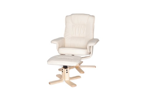 Amstyle Comfort Relaxsessel mit Hocker - 5