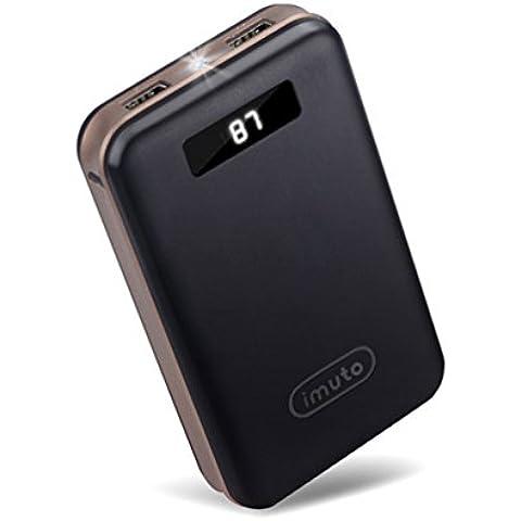 iMuto X4-black - Batería externa para móviles y tabletas de 20000 mAh, con LED, color negro