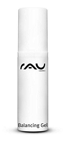 RAU Balancing Gel 5 ml - Anti-Pickel SOS Serum für das Gesicht - mit Ackerschachtelhalm, Hamamelis, Kamille, Melisse, Salbei & Schafgarbe - regulierende, porenreinigende Nachtpflege - Creme Fluid für unreine ölige Haut, Akne, Mitesser Mischaut - Männer und Frauen - Naturkosmetik - im Spender - - Mini Travel Size