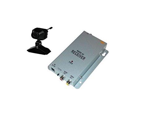 Aus Farb-mini-kamera (KesCom® 811N Mini Farb Funk Kamera Security Überwachung , Kanal 1 bis 4 erhältlich (nicht einstellbar) inkl. 4 Kanal Empfänger 2,4 GHZ)