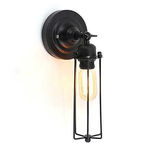 Américain Rétro Fer Appliques Salon Décoration Corridor chambre Lampe Home Deco Antique appliques murales Luminaire,Singlehead