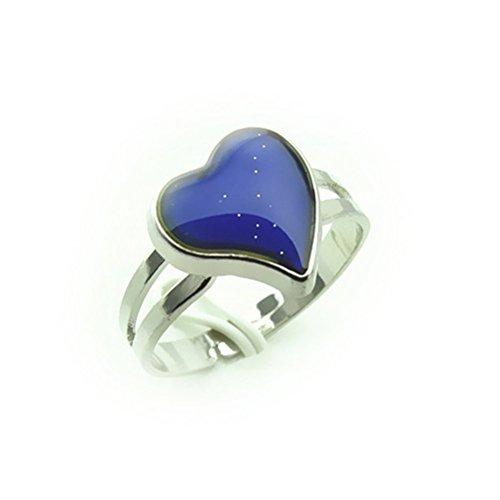 vorcool Ring Fruchtsauger Stimmung Farbwechsel verstellbar-Form de Coeur