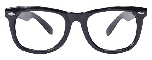 Quadrat Kostüm Schwarzes Brille - Bristol Novelty BA182 Brille, Schwarz, Unisex- Erwachsene, Einheitsgröße