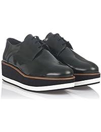 Damen Bugy Shoes Halbschuhe, Waldgrün, 37 EU Laura Moretti