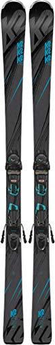 K2 Skis Damen Luv Machine 74 Er3 10 Compact Quikclik Set Ski, Black/Teal, 160 cm