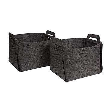 RANRANHOME Filz-Speicher Körbe Behälter, Falten Home-Organisatoren Box Cubes 2