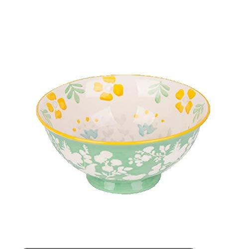RKY Bol- Bol de salade de fruits bol de salade à la maison de style japonais de la vaisselle en céramique sous glaze de style japonais peint - 3 styles facultatifs /-/ (Couleur : B)