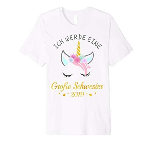 Grosse Schwester Frauen T-shirt (Ich Werde Eine Große Schwester 2019 Einhorn T-Shirt)