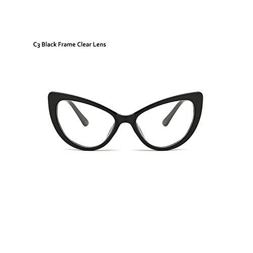 Sport-Sonnenbrillen, Vintage Sonnenbrillen, Butterfly Cat Eye Sunglasses Women Fashion Clear Gradient Farbe Lens UV400 Brand Designer Sun Glasses For Men C3