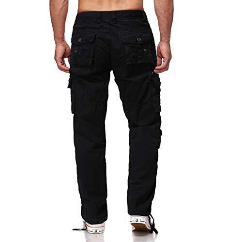 Pantaloni da Trekking da Uomo,Momoxi Pantaloni da Jogger da Uomo Pantaloni Casual in Tinta Unita con Patchwork,Pantalone da Uomo Modello Cargo con Tasche Laterali Tinta Unita Regular Fit
