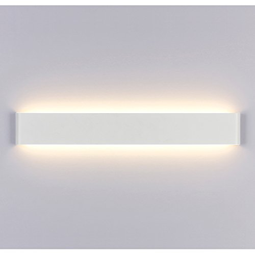 Liqoo® Aplique Pared Interior LED Impermeable IP44 con Transformador Diseño Sencillo Moderno 20W Equivalente a 75W Blanco Cálido 3000k Aplique Espejo Baño AC85-265V Decoración para Sala Dormitorio Pasillo Escalera Restaurante No Regulable