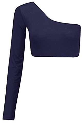 Chocolate Pickle ® Nouvelles dames une épaule Long Sleeve Crop Tops albums Bralet Vest