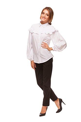 Gestickte Frau Bluse Weiß. Vyshyvanka. Gesticktes Hemd Weiß auf Weiß (XL) (Chiffon Silk Bestickt Tunika)