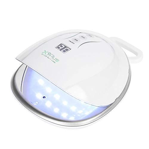 Pediküre Gel-kühlung (UV Nagel Lampe, intelligenter 48W Nagel Trockner mit 4 Timer Einstellungen für Fingernägel und Zehennägel(Weiß))