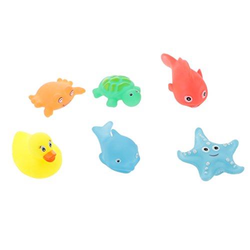Fenteer 6er Pack Schwimmen Baden Spielzeug Kinder Bad Spiel Wasser Pool Badespielzeug