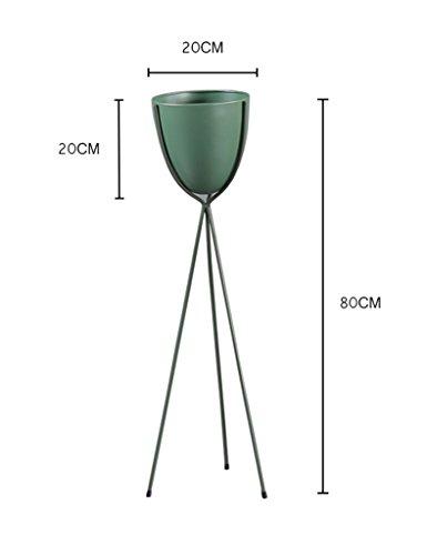 ZCJB Etagères de plantes Moderne Simple Fer Art Fleur Pot Rack Balcon Floorstanding Salon Orchidée Fleur Étagère Métal Nordique Fleur Stand (Couleur : Vert, taille : Height 80cm)