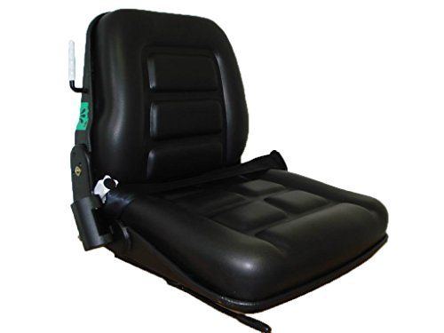 Fahrersitz Typ RS 12 mit mechanischer Federung, Staplersitz mit Kontaktschalter für mehr Sicherheit; Gabelstapler Sitz mit Gewichtseinstellung, universeller Fahrersitz für Gabelstapler & Baumaschinen Sicherheit Fahrer