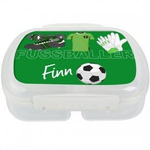Brotdose mit Namen, Fußball, Frühstücksdose, Junge, eigene Lunchbox von Finlix