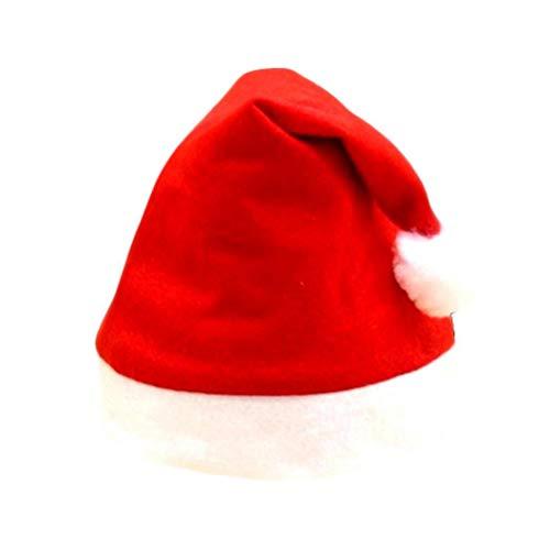 Cicadi Erwachsene Kinder niedliche Weihnachtskostüm-Weihnachtsdekoration Santa Hat Classic - Niedliche Weihnachtskostüm