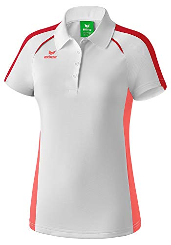 Erima Damen Masters Polo-weiß Shirt, hot Coral, 44
