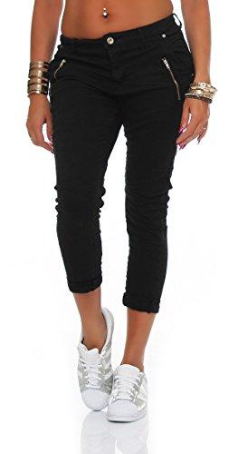 SKUTARI Damen - Skinny Jeanshose, Farbton:Schwarz;Groesse:D36/S