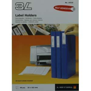 3L 5 x Sichtfenster 25x102mm selbstklebend Kunststoff inkl. Etiketten VE=48 Stück