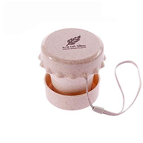 Hochwertige tragbare Faltschale Wasser Tee Weizenstroh Faltbare Reise Faltschale Geschenk (Color : Beige) (Tee-und Wasserkocher Ruhigen)