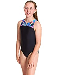 Zoggs Girls' Labrynth Infinity Back One Piece Swimsuit
