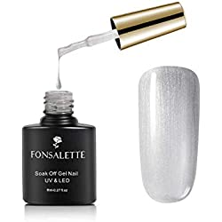 ❤️Vernis à Ongle Gel Polish Gris Clair UV LED Soakoff Nail Art Vernis Semi Permanent Manucure 8ml (SC-40532)❤️