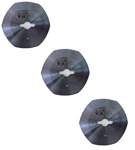 3 x Electric Rotary Cutter's Blades for Professional Industrial Electric Fabric Rotary Cutter, Cloth Cutting Machine