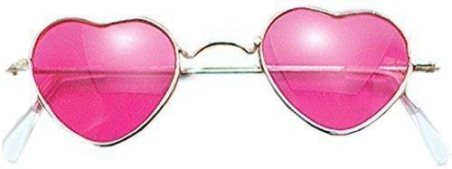 Preisvergleich Produktbild Erwachsene 1970s Weihnachten Party Accessoire Hippie Hippy Herzform Brillen Pink