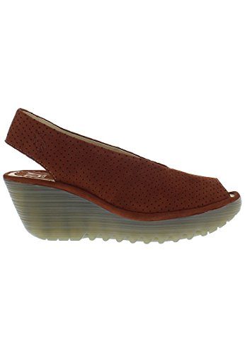 FLY LONDON YAZU736FLY - Sandalo da Donna Modello YAZU736FLY con Chiusura in Velcro al Tallone rot