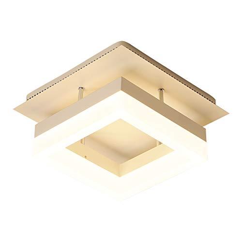 Lámpara LED de techo para pasillo, diseño cuadrado, moderna, pantalla de acrílico,...
