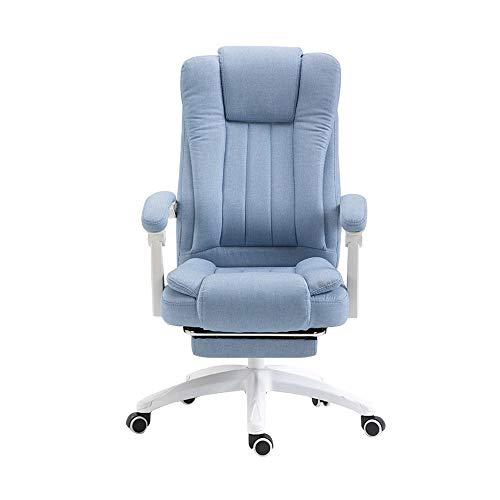 SMLCTY Bürostuhl, Ergonomische PU-Leder Executive Office Chair Swivel Massagesessel, vibrierende 7 Point Wireless Massage Funktion Stuhl, bequem und sicher -