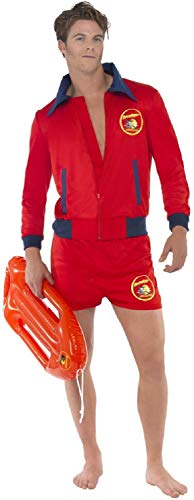 Sexy Lifeguard Kostüm - Mens Sexy Baywatch Lifeguard Emergency Service Stag Do Night Party TV Series Book Film Fancy Dress Costume Outfit (Medium)