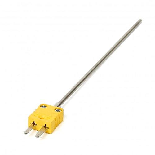 Thermoelement 3x150mm Mantelthermoelement mit Miniaturstecker NiCrNi Typ K bis 1150°C