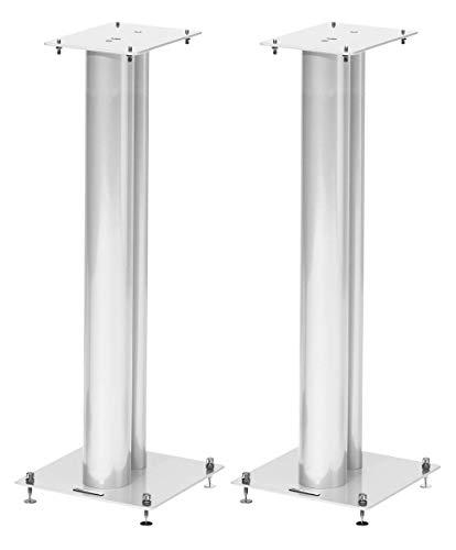 Norstone Lautsprecherständer Stylum, stabil aus Metall, bis 50kg belastbar, Paarpreis (Stylum 3 (80cm), Weiß (matt))