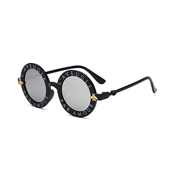 Wang-RX Steampunk Bee Kids Sunglasses Boys Girls Luxury Vintage Children Sunglasses Gafas redondas de sol 8 colores 5