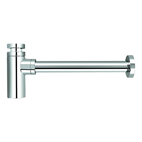 "VARIOSAN Design Siphon Geruchverschluss 12555, 1 1/4\"", 32 mm, Messing, verchromt"