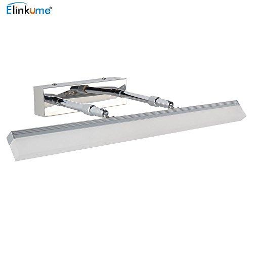 ELINKUME 12W LED Spiegelleuchte Badleuchte Badlampe Schranklampe, Warmweiß Wandbeleuchtung Spiegelschrank Lampe, Spiegel Wand Schminklicht