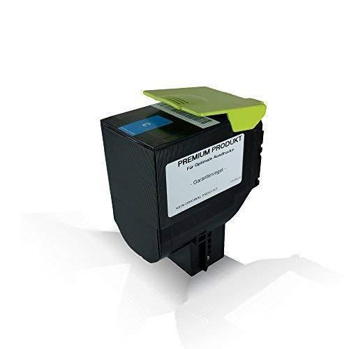 kompatible Tonerkartusche Cyan für Lexmark 3.000 Seiten CX410de CX410dte CX410e CX510de CX510dhe CX510dthe CX 410 de CX 410 dte CX 410 e CX 510 de CX 510 dhe CX 510 dthe 802HC Cyan C -