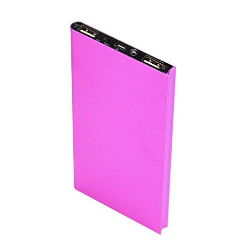 Gaddrt - Batería externa de 20000mAh - Puertos USB duales - Cargador de teléfono y ordenador portátil - Cargador rápido - Batería externa, hot pink