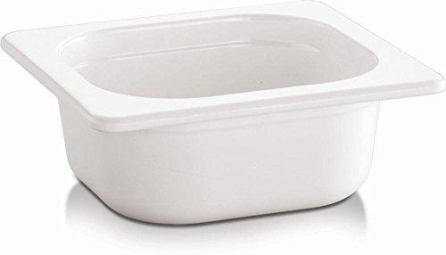 APS GN 1/6 Behälter -ECO LINE-, Melamin, weiß, 0,8 Liter, 17,6 x 16,2 cm, H: 6,5 cm