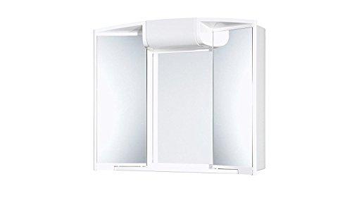 #Spiegelschrank 3 Türen, Breite 59 cm weiß mit 2 Leuchtmitteln inkl.#