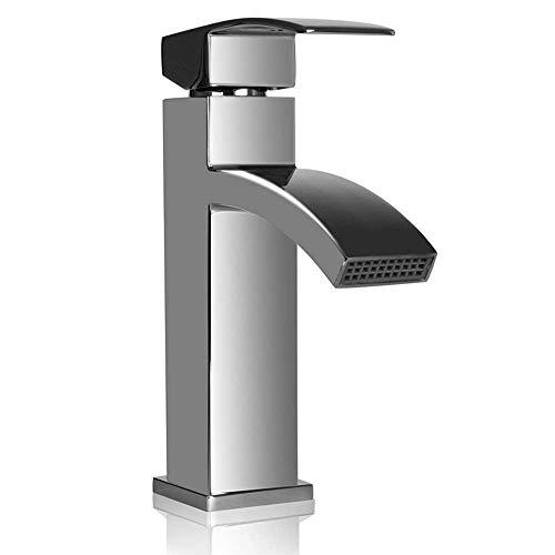REFURBISHHOUSE Wasserfall Waschtischarmaturen Mischbatterie Monobloc Einhebel-Wasserhahn Badezimmer