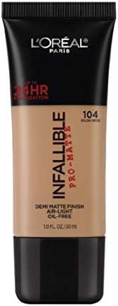 L'Oreal Paris Infallible Pro-Matte Foundation, Golden Beige 104,